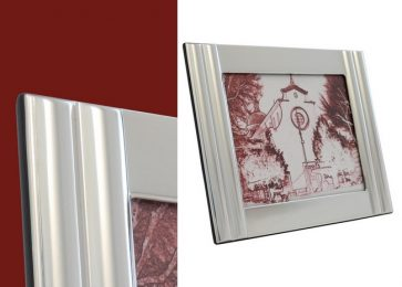 Cornice in argento Reeds